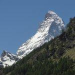 View of Matterhorn from hotel room balcony