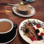There's my granola and the sourdough toast. Tastes as good as it looks!