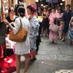 Visite du passage pour une fête japonaise.