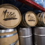 Barrels of spirits aging for future release