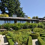 Frank, Lloyd and Wright Executive Suites overlooking the Lake Taupo Lodge herb gardens