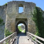 South Barbican, the way in to the castle ruins