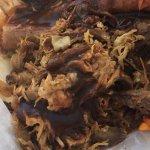 BBQ pulled pork, looked like gunk tasted like BBQ fat