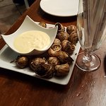 our plate of snails (escargot)