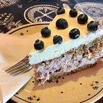 Blueberry and hazelnut cake