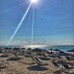 Beautiful beach at the Elbow Beach Hotel