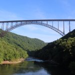 Below the New River Gorge bridge just minutes from camp