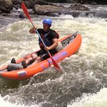 Rafting the Gauley River in ducky rafts or inflatable kayaks