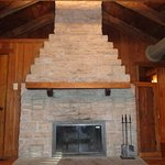 The fireplaces are designed to replicate the look of the old charcoal furnaces of the mid 1800's