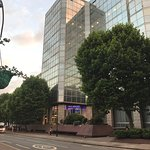 The main building of Novotel London West. It is  Very Convenient to reach by bus train and taxi