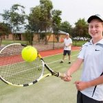 Enjoy a game of tennis at our resort court