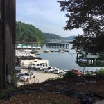 This place has a prime location/setting great marina poorly cared for lodge and cabins they must