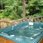 Deer Lodge Hot tub on back porch