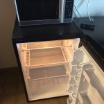 Fridge, microwave, TV new and in good condition
