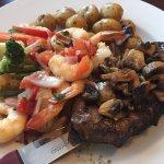 10oz Steak with Sauteed Prawns