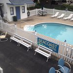This was our view of the pool from the second floor balcony.