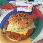 Fried grouper sandwich and beer of the month!
