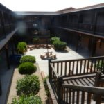 Inner courtyard of hotel