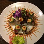 Manhattan Roll at Yamato in Tyler, Texas.   Beautiful and Yummy!