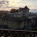 Suceava Fortress at sunset