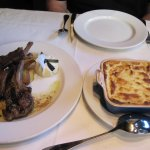 Lamb Chops and Moussaka
