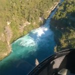 View of Huka Falls from helicopter.