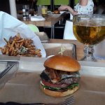 Burger Fries and Beer and youre set !