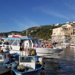 this is the harbour at MassaLubrenssa Where you get the boat to Caprie