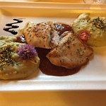 Chicken Saltimbocca - plus pumpkin seed oil & potato puree