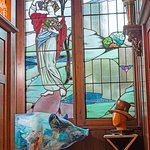 Stained Glass Window Reception Room  Staircase