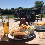 Lovely day for a canal side spot of lunch.
