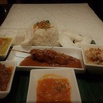 Selection of indonesian dishes served for one! Absolutely delicious!!!