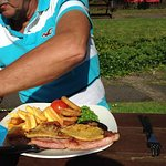 Gammon at the riverside cheddar
