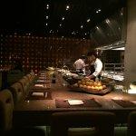 ilot et espace culinaire pour les chefs Japonais