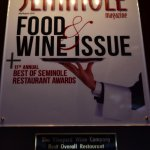 Our awards from Seminole Magazine (Reader's Choice awards)