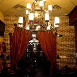 From inside of our private dining area, available for meetings, parties, and events