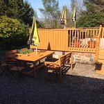 Our outside decking area