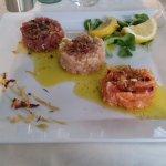 tris of tartare of fish