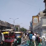 Busy street view of Cahndani Chowk