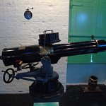 A late 19th century early 20th century Gatling Gun [Machine Gun]