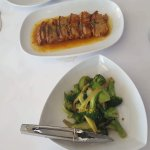 The yummy Crunchy Pork Belly in a Tasty sauce served with Brocolli on the side !