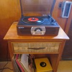 Vintage Record Player in the Royal Mansion