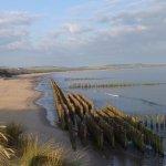 vue de la plage interdite protection dunes en reamenagement