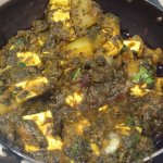 Potato, paneer and spinach