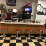 Tom's Diner - counter bar seats