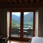 View of the valley from the room & balcony