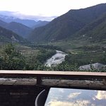 Punakha Valley view from the rooom balcony
