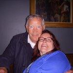My wife Judy and John Sullivan, retired police chief and an interesting Irish character.