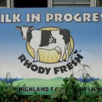 Milking sign, down at the Farm