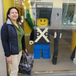 Lego soldier in shop window